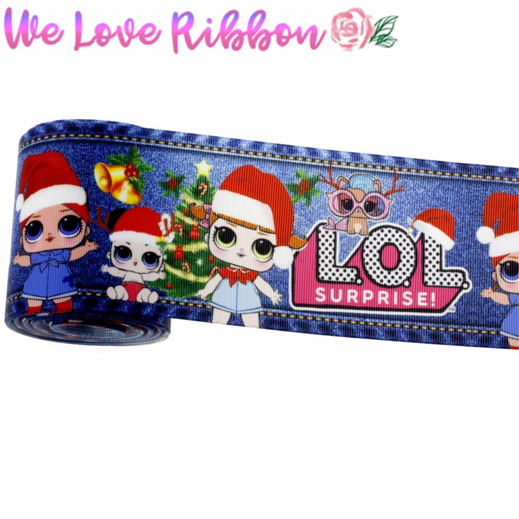 3 «75 мм с любимыми персонажами из мультфильмов для девочек, джинсы с принтом корсажная лента Рождественский подарок» сделай сам «волосы без рукавов, для детей, с полоской для изготовления 10 ярдов/рулон MD180907-75-16689