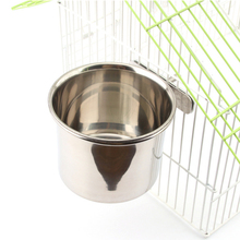 1Pcs Parrot Stainless Steel Birds Foods Water Parrots Feeder Feeding Bowl Parakeet Feeders Bird Cage Accessory Supplies