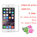 for iphone 5s glass Ultra Thin 0.26MM 2.5D 9H real tempered glass on for iphone 4S 5S 6S 6 plus for iphone 7 glass/7plus
