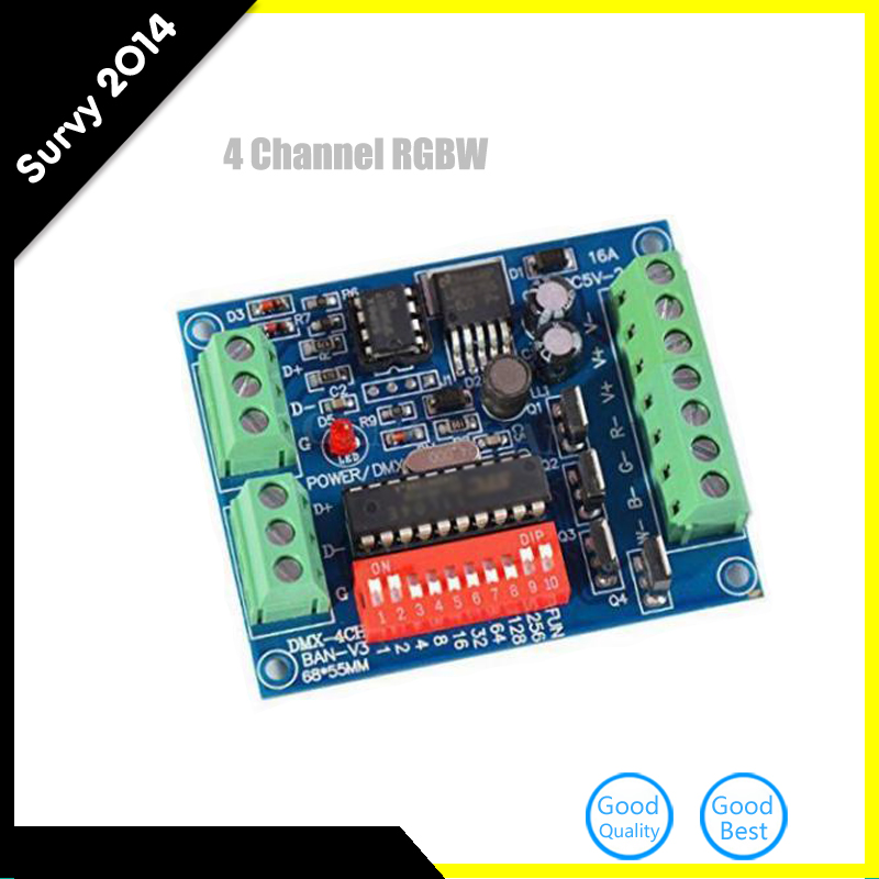 4CH Channel DMX512 Decoder 16A RGBW Control LED Stage Lighting CMOS Output New