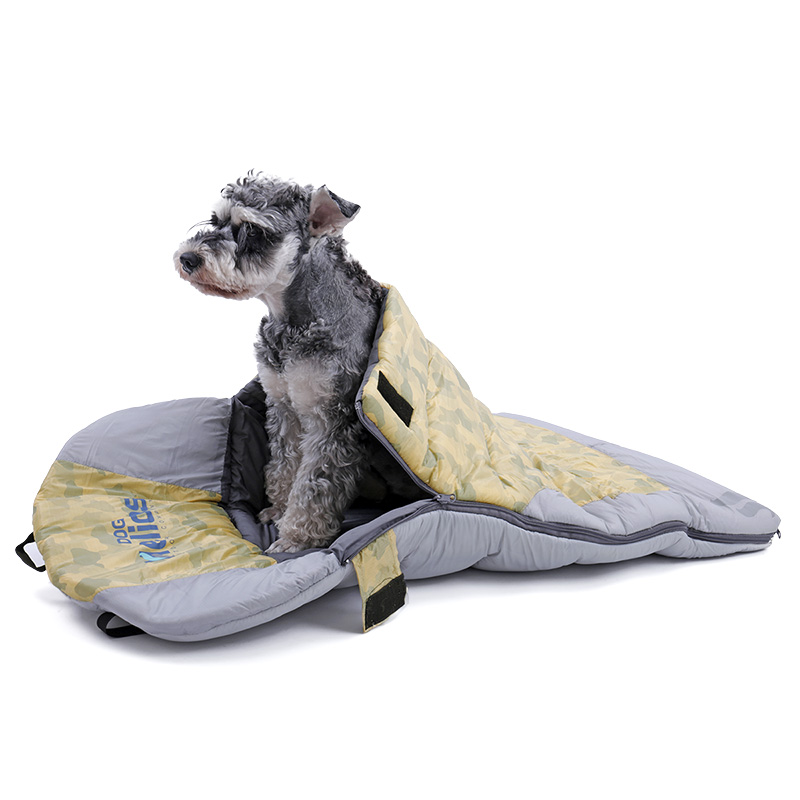 US $61 3 20% OFF professional Dog sleep bed for Outdoor travel stitched  folding multi functional sleeping bag pet large cushions waterproof-in  Houses,