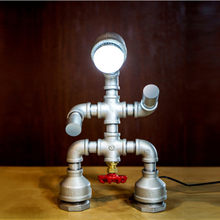 Industrial Country Retro Water Pipe Desk Lamp Vintage Table Lamps LED Light Table Light Bulbs Fit for Cafe Bar(China)
