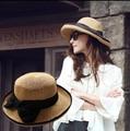 [Dexing] superestrella de paja sombreros de verano al aire libre sombreros para las mujeres sombrero de playa señoras Mujeres del arco floral sombreros de Sun Cinturón Panamá fedora sombrero