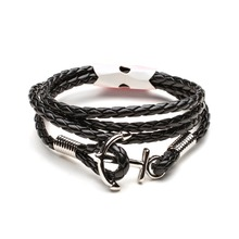 Фотография Bracelets Men Jewelry Gifts  For The New Year Men\x27s Bracelet Trendy Leather Anchor Men