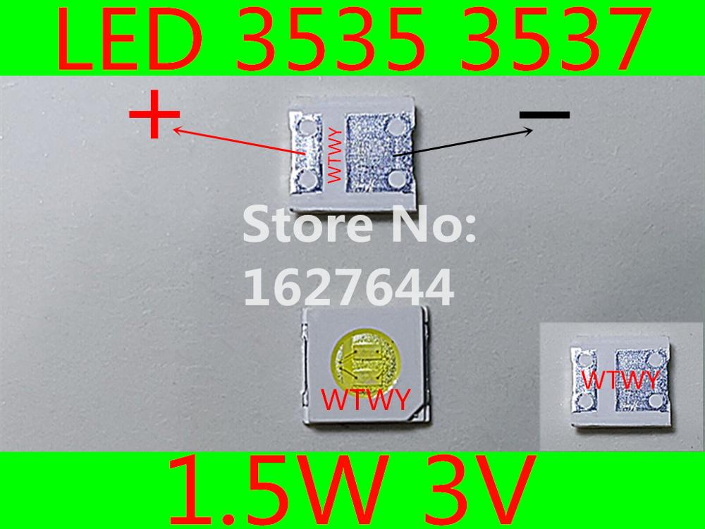 500pcs Original and new For COREACH LED 3535 3537 LED Backlight 1 5W 3V 110LM Cool