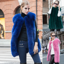 Hot promoting fall winter real fox fur girls's vest ,100% pure fur waistcoat for ladies Customized Size