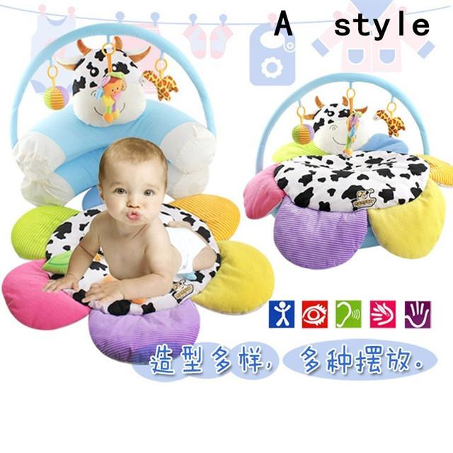 2016 cadeira de bebé para o bebê inflável sofá flor vaca bonito segurança portátil para assento de alimentação frete grátis