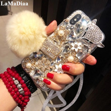 Luxury Crystal Bling Diamond Fox Phone Case For Xiaomi 5 5S Plus 5X 6 Max MIX 2 3 For Redmi Note3 4 4X 5A Prime Soft Back Cover