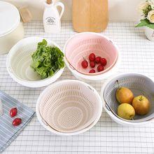 Новое поступление двухслойная конфетная Цветная многофункциональная кухонная дуршлаг мытый рис корзина для слива овощей органайзер для фруктов