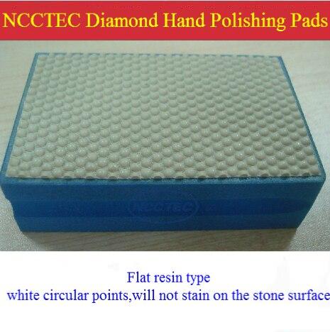 NCCTEC Diamond Resin Hand Heald Polishing Pads Blocks Tools For FINE Polishing Marble Granite Glass   FREE Shipping 90*55*30mm