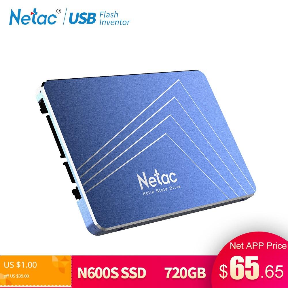 Netac SSD Festplatte 1 TB SATA3 360 GB 430 GB 720 GB TLC Interne Solid State Drive 2,5 Laptop stick Disk Für Notebook PC Computer