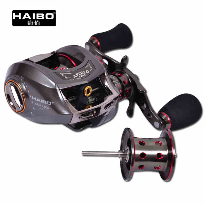 Haibo 14BB APOLLO150 6.3:1 170g Left/Right Hand Baitcasting Fishing Reel Lure Reels Bait Cast With a Spare Spool лопатка для омлета tescoma presto wood 637222