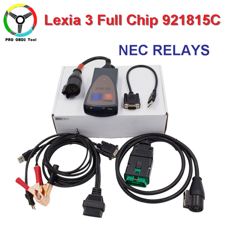 Newest PP 2000 Lexia 3 V48 V25 For Citroen Peugeot Car New Lexia-3 PP2000 Diagnostic Scanner Tool With Diagbox V7.83 FULL Chip 5pcs lot dhl free lexia 3 pp2000 v7 76 obd2 diagnostic interface lexia3 v48 for cit roen pp2000 v25 for peu geot new diagbox