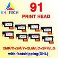 2 set fastship cabezal compatible para hp 91 C9460A C9461A C9462A C9463A Designjet Z6100 Z6100P