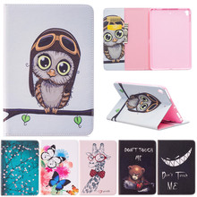 For Ipad Mini 5 Butterfly Owl Bear Cartoon PU Leather Flip Stand Cover Cases For Apple iPad Pro Mini 7.9'' Tablet Case Fundas стоимость