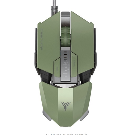 TEAMWOLF Immortal Laser Changeable Gaming mouse 8200DPI led light Human Engineering Design For CS GO LOL FPS Gamer Mouse image