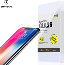 SmartDevil protector film for iphone X smartphone tempered glass mobile phone protective scratch proof glossy screen front film glossy matte lcd screen front back protector w cleaning cloth for iphone 4 4s transparent