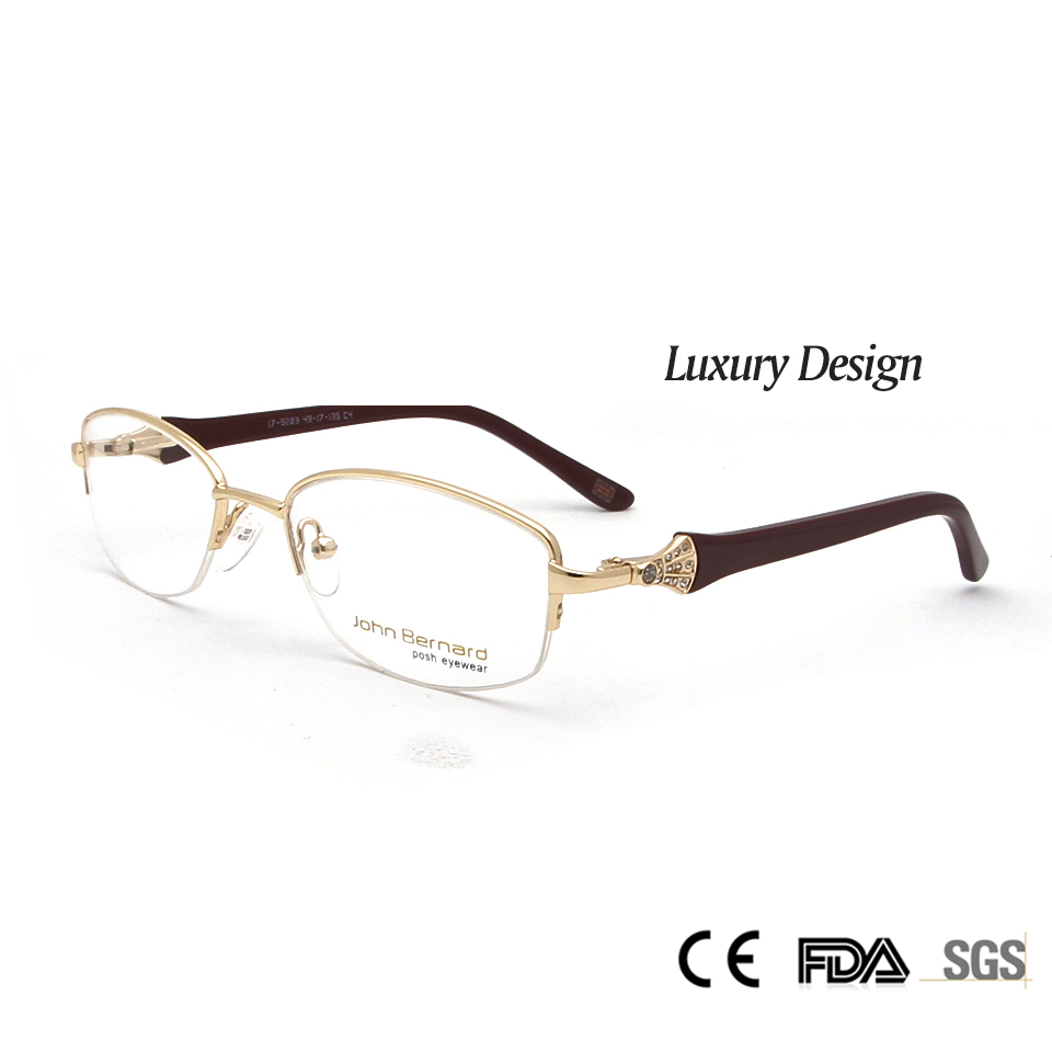 Sorberni kõrgekvaliteedilised naiste metallprillide raamid Optilised teemandid Luksuslikud rhhinestone disainprillid Müoopia prillid Oculos