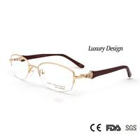 High Quality Women Round Metal Eyeglasses Diamond Optical Frame Luxury Rshinestoen Design Prescirption Glasses Eyewear Oculos