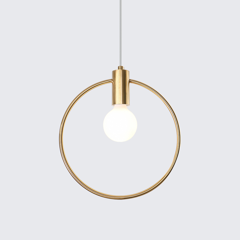 Modern Nordic Pendant Lights Gold suspension Pendant Lamps For Lobby Dining Room Round ring Arts loft hanglamp kitchen fixturesModern Nordic Pendant Lights Gold suspension Pendant Lamps For Lobby Dining Room Round ring Arts loft hanglamp kitchen fixtures