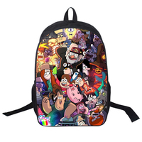 Cartoon Gravity Falls Backpack Mabel Pines Knapsack Anime Schoolbag Waddles Rucksack Gift Kids Boy Girl