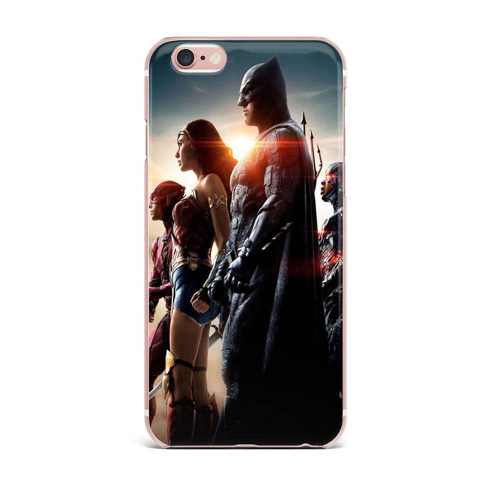 Чехол для Apple iPhone 7 6 s 8 плюс 5S 5 Прекрасный Чудо-Женщина Черный серии мобильных телефонов В виде ракушки рисунком стиль Мягкие TPU Чехол крышка
