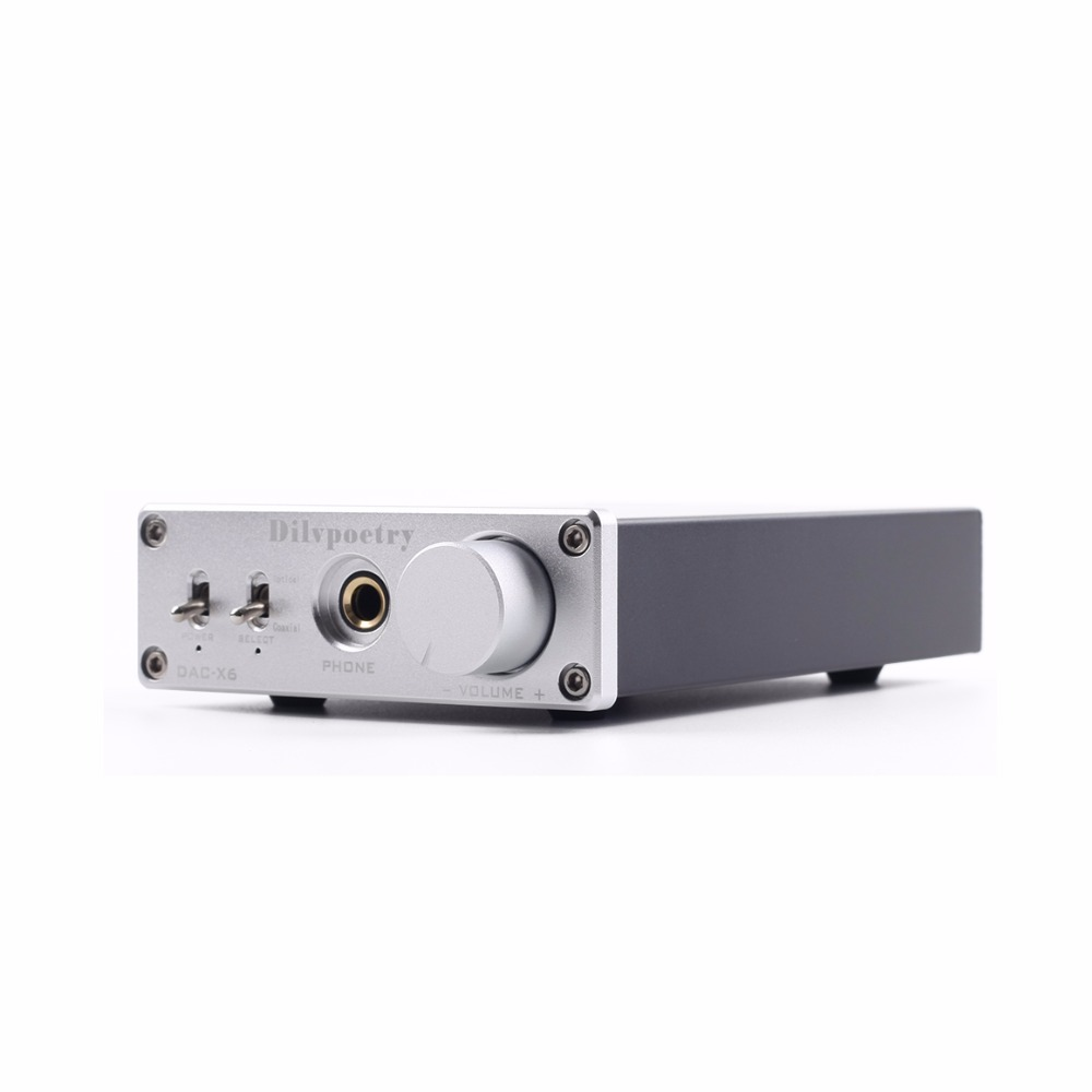 Dilvpoetry DAC-X6 N5532+TPA6120 Fever HiFi AMP Headphone Amplifier USB Fiber Coaxial Digital Audio Decoder DAC Amplificador hot sale dac board optical fiber coaxial usb dac decoding amp board