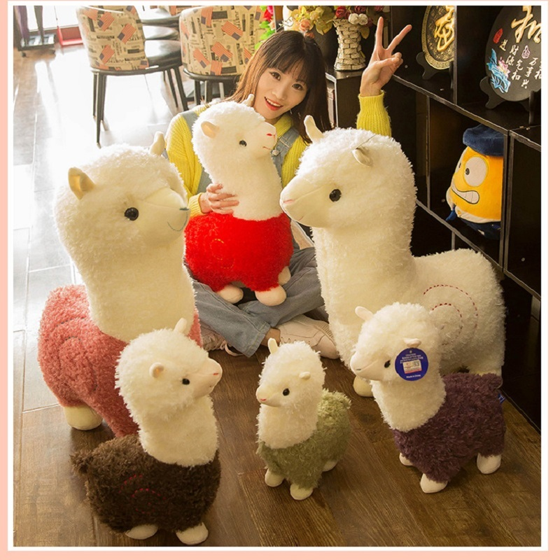 Hot Selling Lovely Alpacas Plush Toys Cute Alpacas Dolls Sleeping Pillow Birthday Present Children's Day Gift
