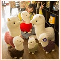 hot selling lovely alpacas plush toys cute alpacas dolls sleeping pillow Birthday present Children's day gift