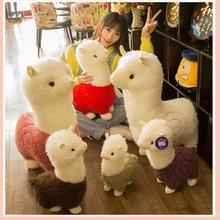 Venda quente adorável alpacas brinquedos de pelúcia bonito alpacas bonecas dormir travesseiro presente aniversário presente do dia das crianças