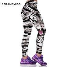 Tigre de Malha de impressão Mulheres Legging Calças de Fitness 3D Impresso 2016 New Arrival Roupas de Ginástica Para Mulheres SML142(China (Mainland))