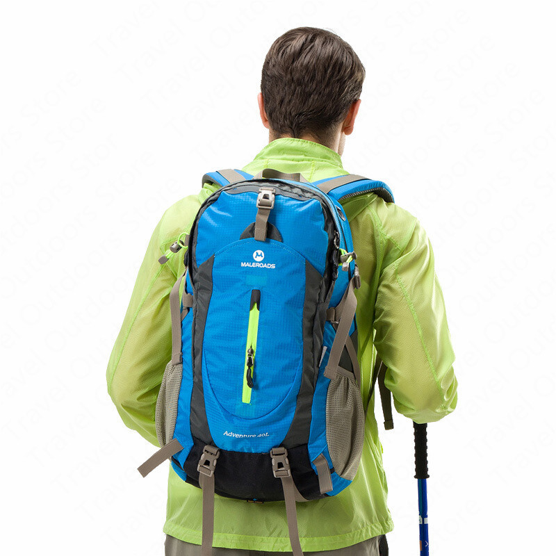 <font><b>Maleroads</b></font> <font><b>40L</b></font> Outdoor Climbing Backpacks Hiking Backpacks Waterproof Sports Backpacks With Rain Cover Breathable Sports Bags image