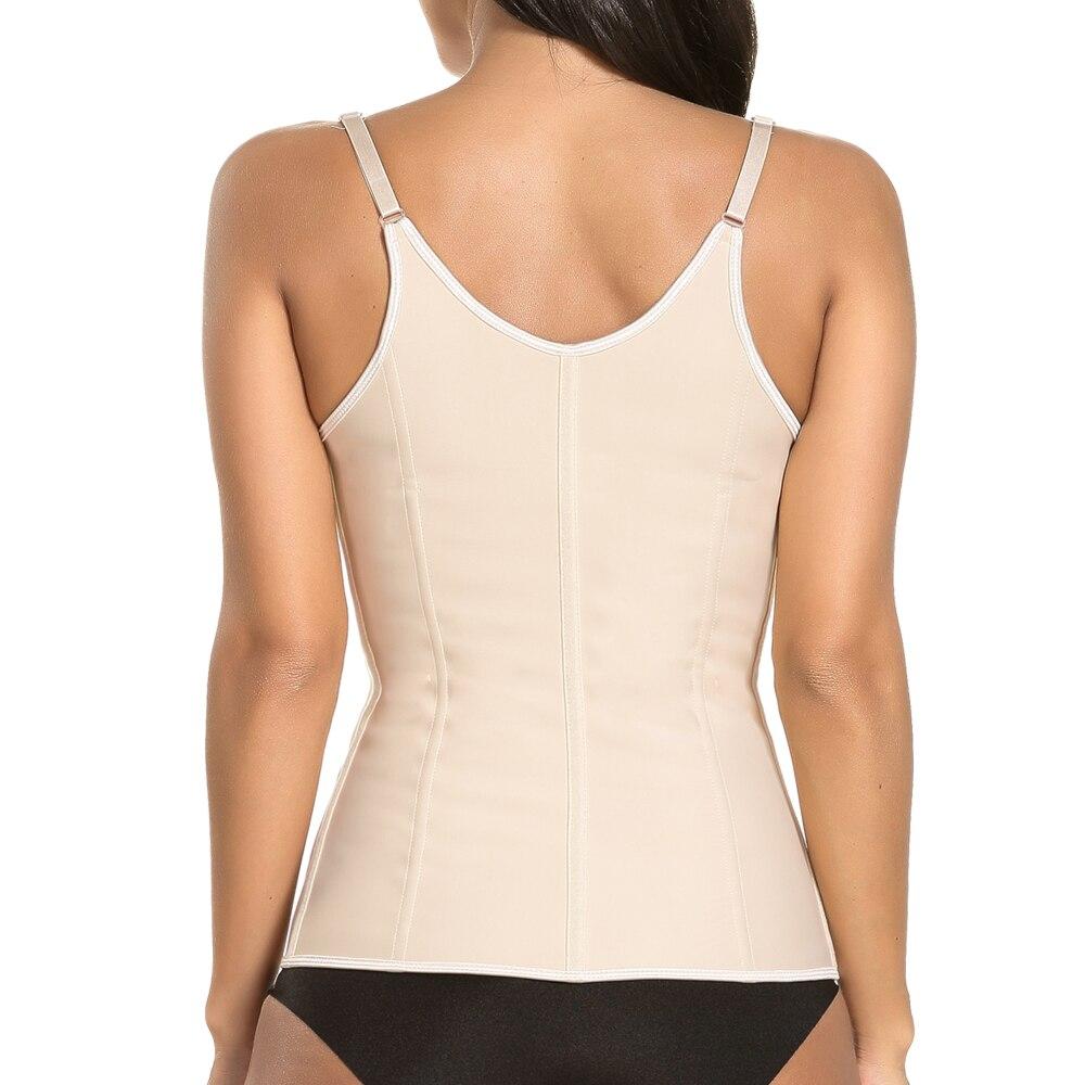 Meisou Adjustable Shoulder Strap Waist Trainer Vest Corset Women Zipper Hook Body Shaper Waist Cincher Tummy Best DropShipping in Waist Cinchers from Underwear Sleepwears