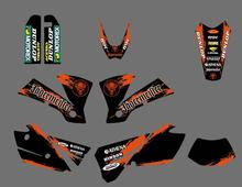 Motocicleta equipe gráficos & fundos decalques adesivos para ktm exc 125 200 250 300 400 450 525 2004