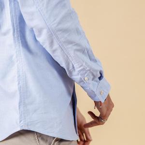 Image 4 - SIMWOOD Autumn winter Men Shirts New 2020 Fashion 100% Pure Cotton basic Slim Fit Plus Size Brushed Oxford Shirts  180569