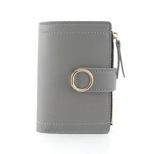 Купить с кэшбэком Pink Wallet Women Zipper Hasp Wallet 6 Color Women Coin Purse Coin Bag Women Wallets Credit Card Holder Card Holder Bill Holder