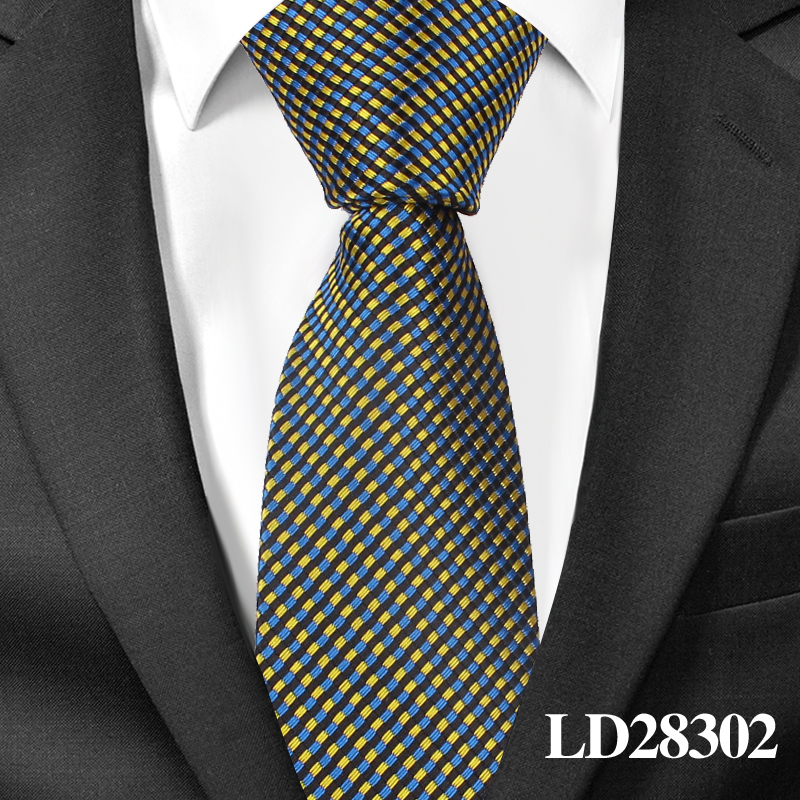 Fashion Skinny Neck Ties for Men Casual Plaid Suits Tie Gravatas Blue Mens Neckties For Business Wedding 6cm Width Slim Men Ties 5