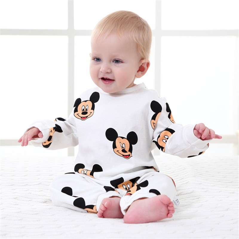 Spring Baby Rompers Cotton Cartoon Long Sleeve Baby Girl Clothes Newborn Baby Boy Clothing Infant Jumpsuits Roupas Bebe Clothing