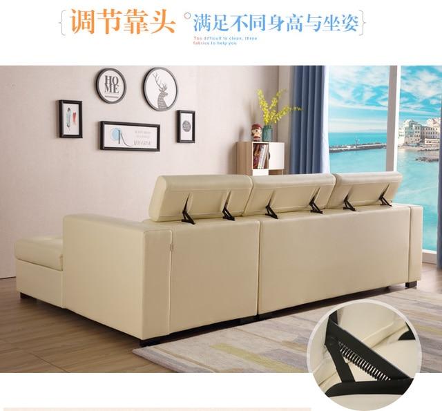 Leather Sofa Bed w/ Storage 4