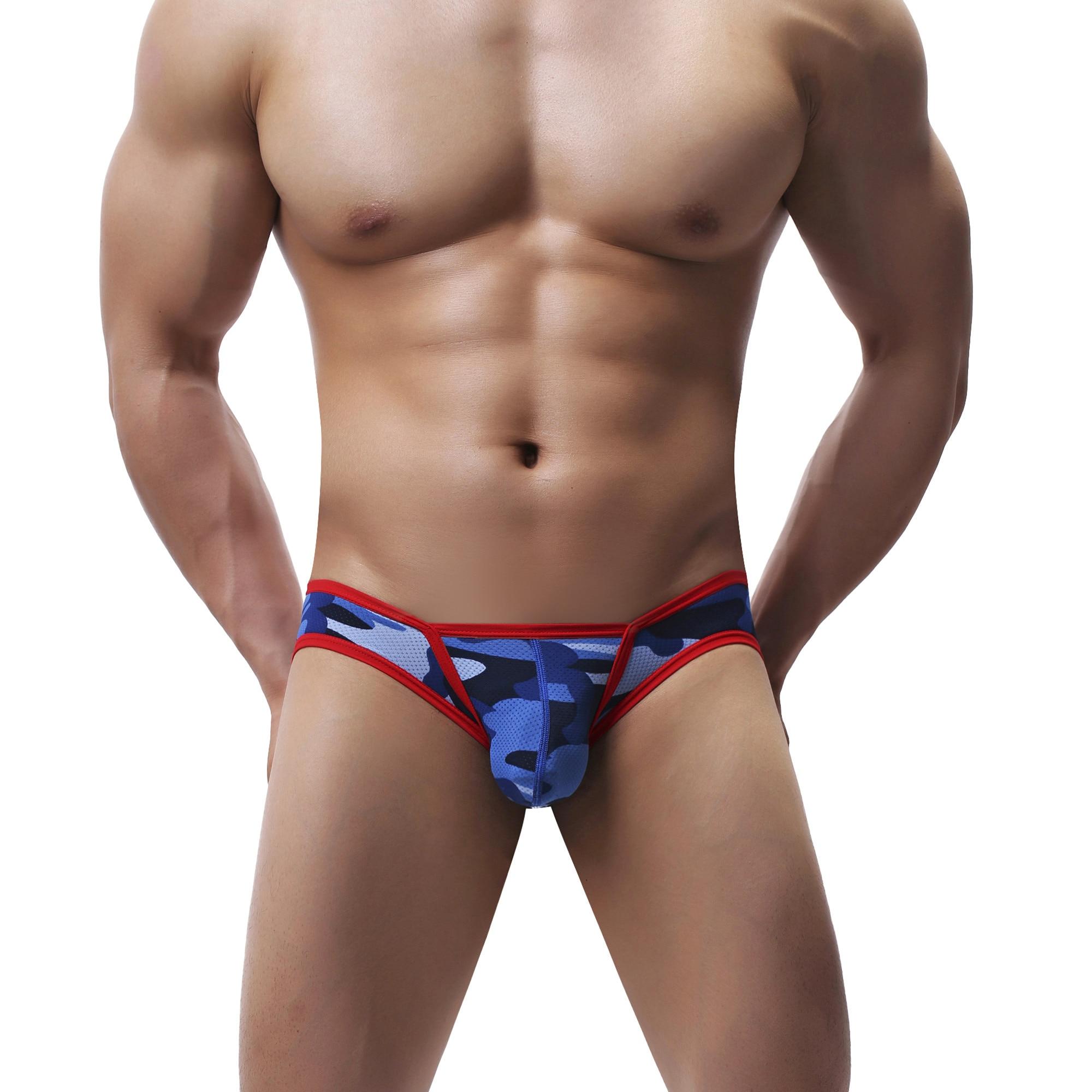 Brand Silk Low Waist Sexy Men Underwear Briefs Gay Penis Pouch Mens Bikini Brief Underwear Man Sleepwear Cotton Underpants