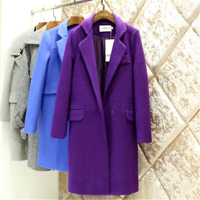 Purple Long Coat - Coat Nj