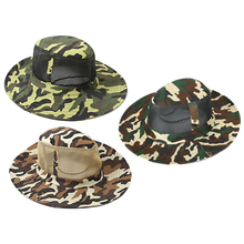 купить Men's Bucket Hat With String Adult Wide Brim Camouflage Mesh Hats Hunting Fishing Camping Outdoor Safari Camo Sun Cap for Men онлайн