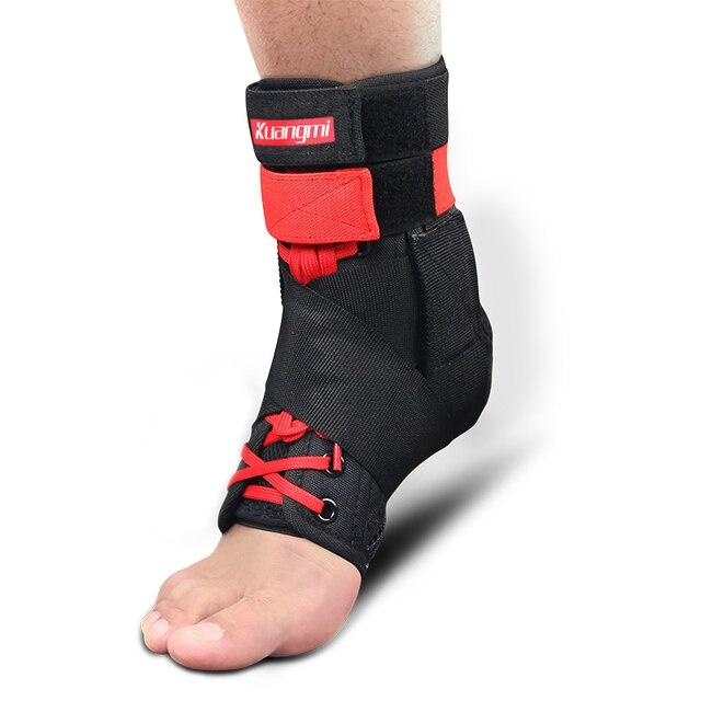 Kuangmi 1 adet Bilek Desteği Brace Spor Ayak Sabitleyici Ayarlanabilir Ayak Bileği SockStraps Koruyucu Futbol Koruma Ayak Bileği Burkulması Pedleri