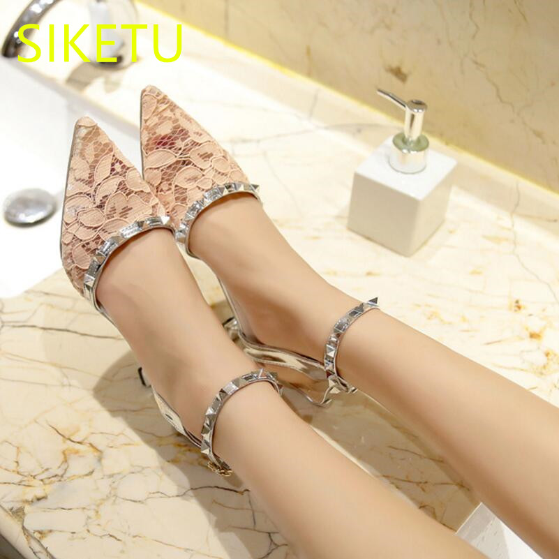 SIKETU Free shipping Spring and autumn women shoes high heels shoes summer wedding shoes pumps g350 flip flop sandals Lace
