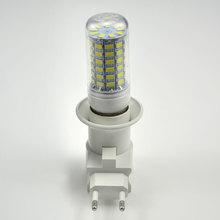 1PCS E27 LED Lamp Light Socket Base Type to 110V 220V EU Plug Bulb Holder Converter + ON/OFF Button Switch