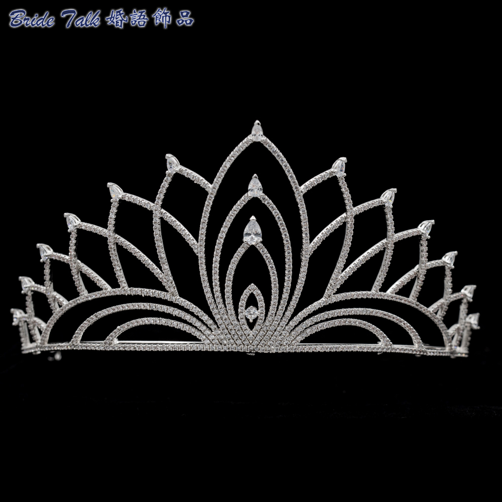 Dazzling Rhinestones Hari Jewelry For Bridal Sliver Wedding Tiaras Girls Crown Headwear Adornos Para El Pelo H228 Jewelry Sets & More Back To Search Resultsjewelry & Accessories