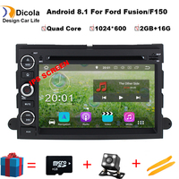 1024*600 Quad Core Android 8.1 Car DVD For Ford Fusion Explorer 500 F150 F250 F350 Edge Expedition Mustang Radio GPS Navigation