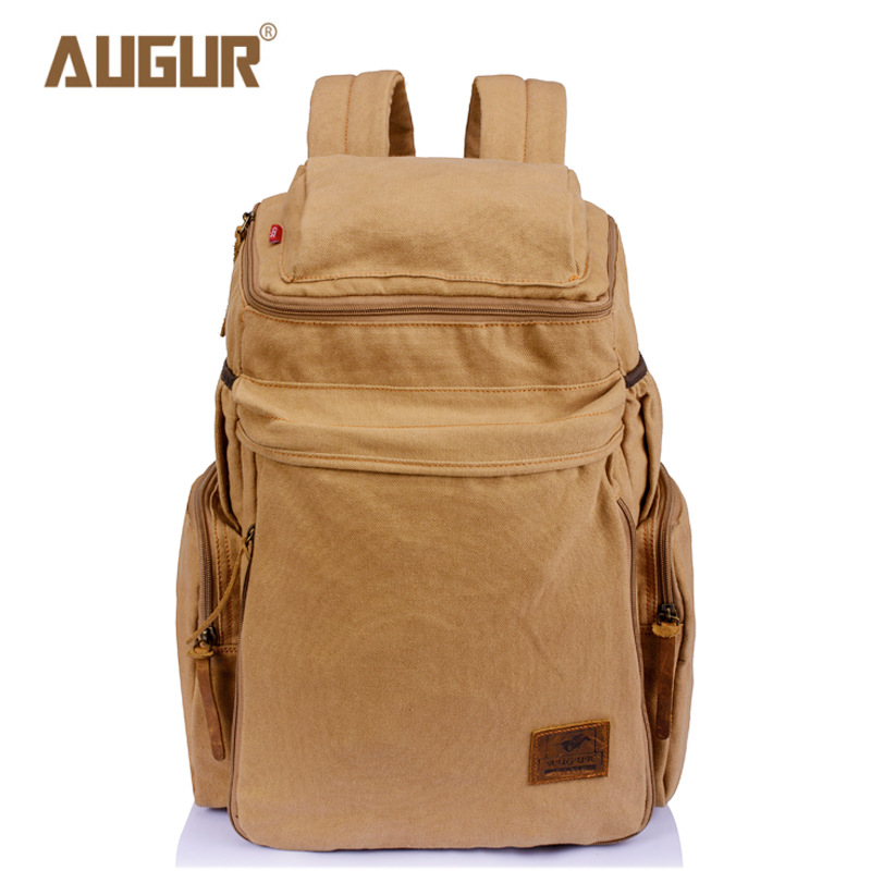 AUGUR Fashion Men Women's Backpack Canvas Travel Laptop Bag Rucksacks Famale Backpacks Teenagers New Arrive Student School Bags цена