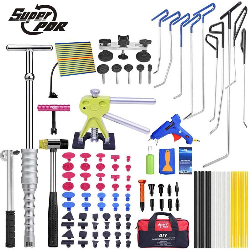 PDR Крюк Инструменты толкателей инструменты Дент удаления Paintless Дент Ремонт Инструменты для ремонта кузова автомобиля Дент lifter Съемник клей