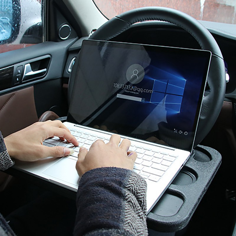 Car Portable Mini Desk Notebook Stand Holder Multi Back Seat Laptop Tray Steering Wheel Computer Food Drink Holder Table Styling